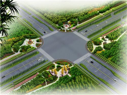 临邑开元大街街景绿化提升工程